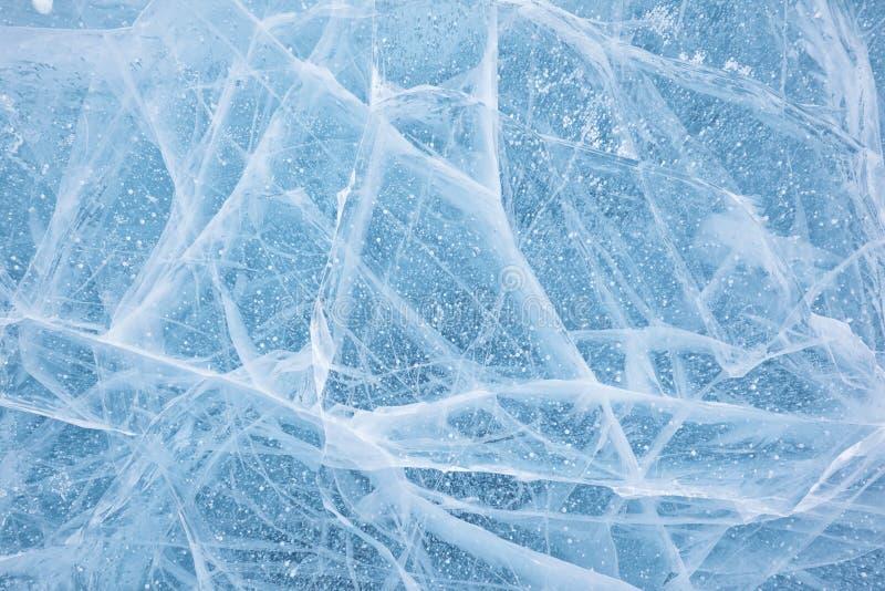Struttura del ghiaccio di Baikal immagini stock