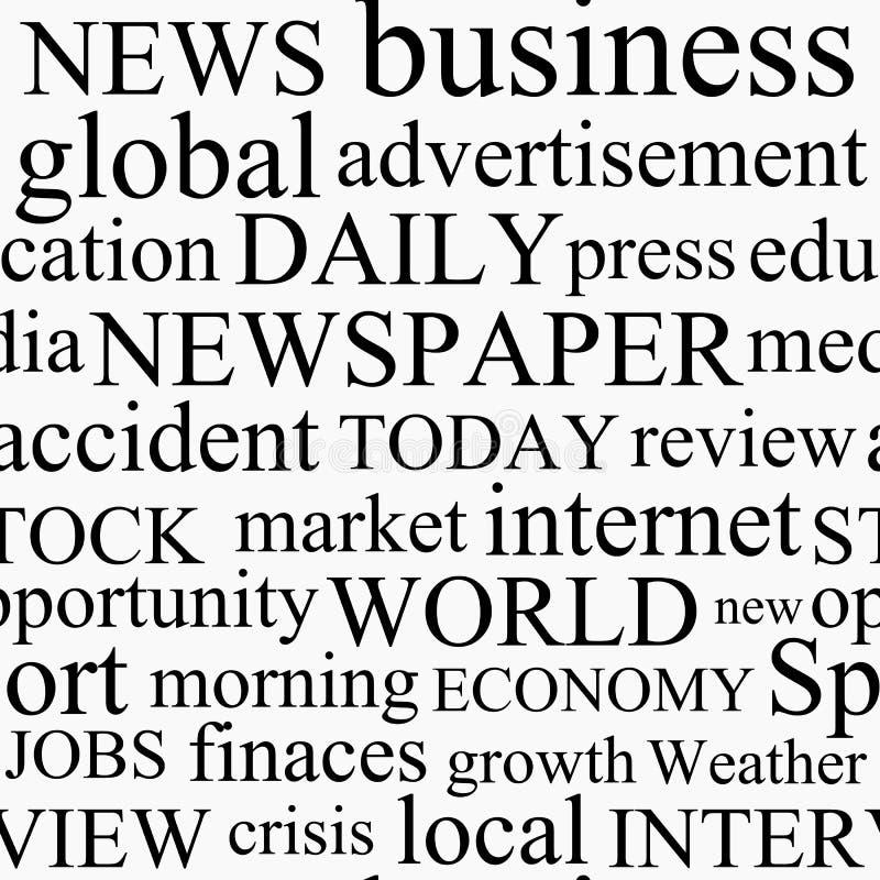 Struttura del giornale illustrazione di stock
