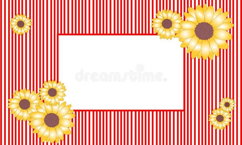 Struttura del girasole dell'illustrazione di vettore fotografia stock libera da diritti