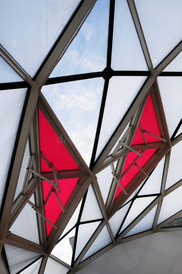 Struttura del lucernario in costruzione moderna fotografie stock libere da diritti