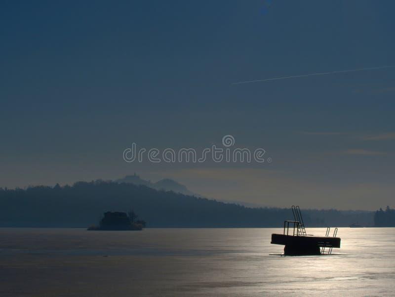 Struttura del mare congelato e del giorno soleggiato Fuoco selettivo fotografia stock libera da diritti