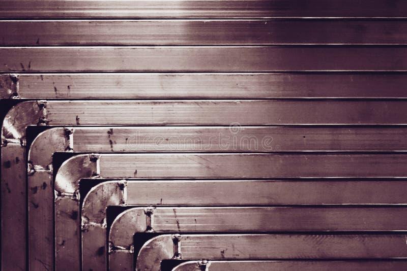 Struttura del metallo di angolo fotografie stock libere da diritti