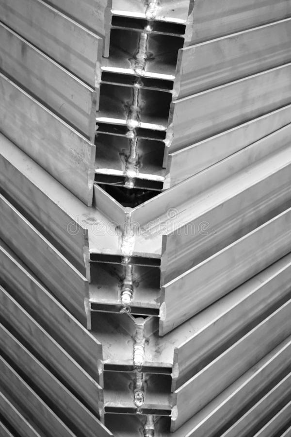 Struttura del metallo di angolo immagini stock libere da diritti