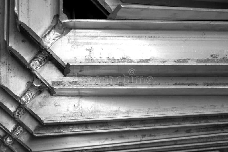 Struttura del metallo di angolo immagine stock libera da diritti