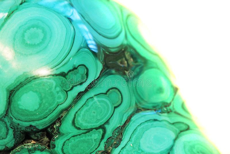 Struttura del minerale della malachite fotografie stock