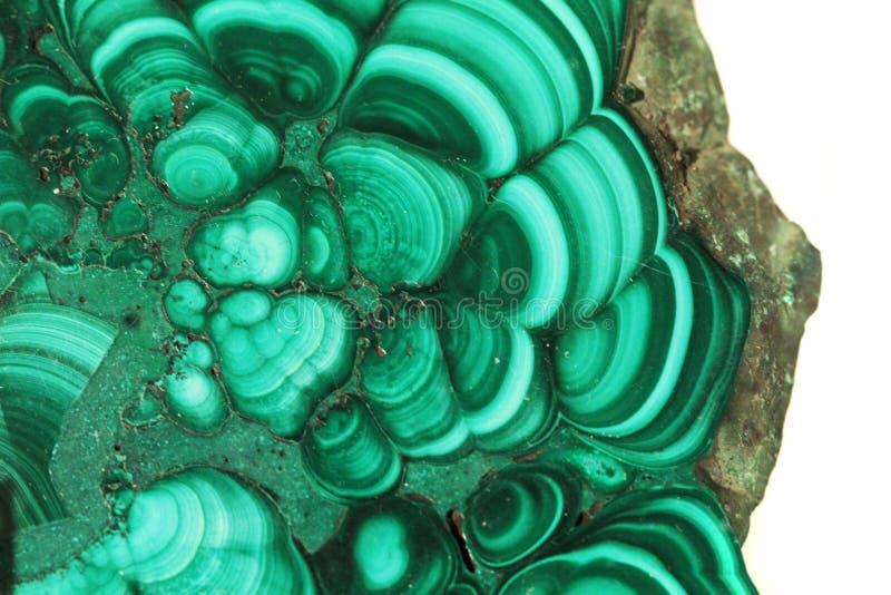 Struttura del minerale della malachite fotografie stock libere da diritti