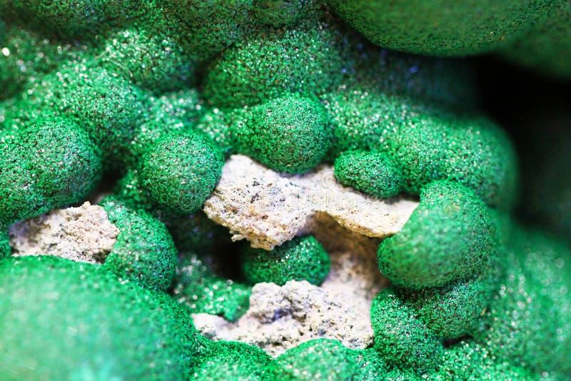 Struttura del minerale della malachite immagini stock