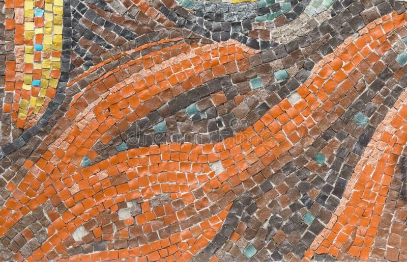 Struttura del mosaico quadrato colorato multi di forma differente fotografie stock libere da diritti