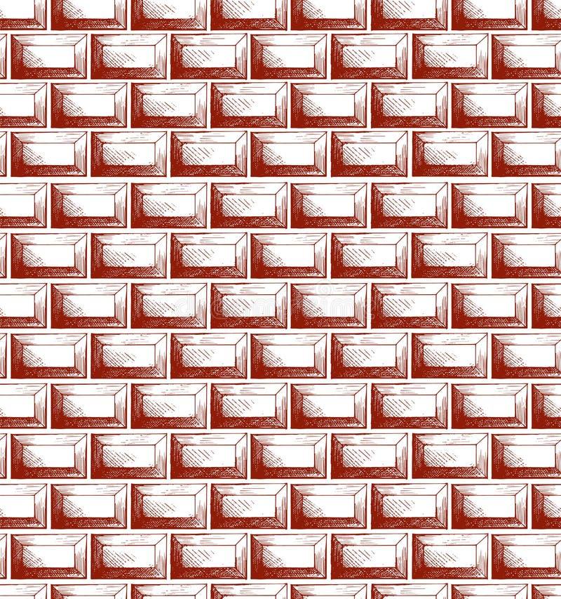 struttura del muro di mattoni illustrazione di stock