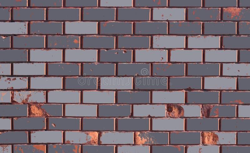 struttura del muro di mattoni Parete grigia Sharp solare che accende la parete illustrazione di stock