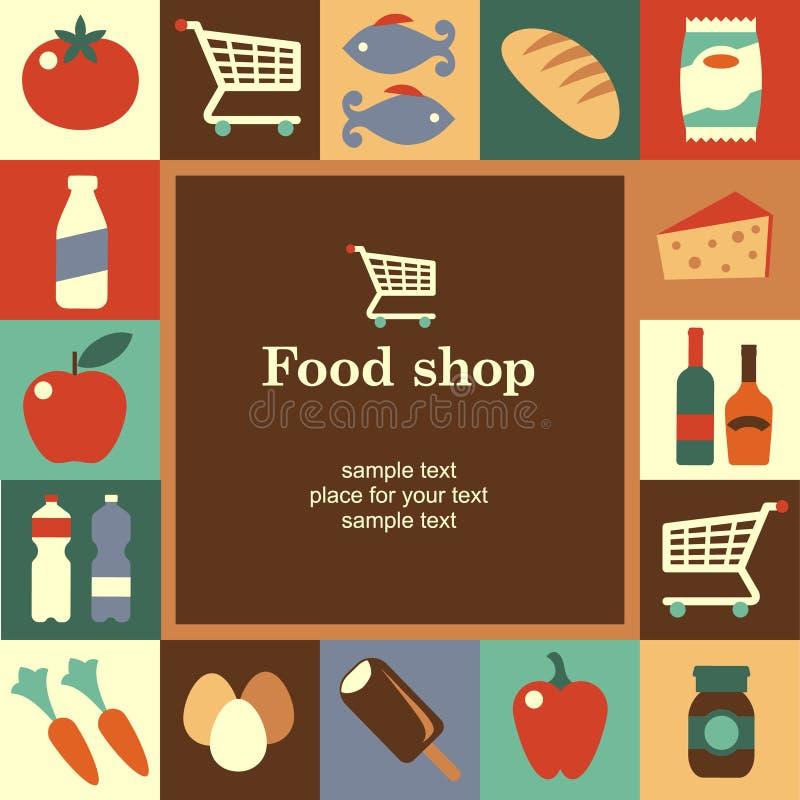 Struttura del negozio di alimento illustrazione di stock