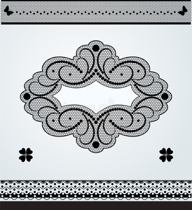 Struttura del pizzo e confini ornamentali del pizzo royalty illustrazione gratis