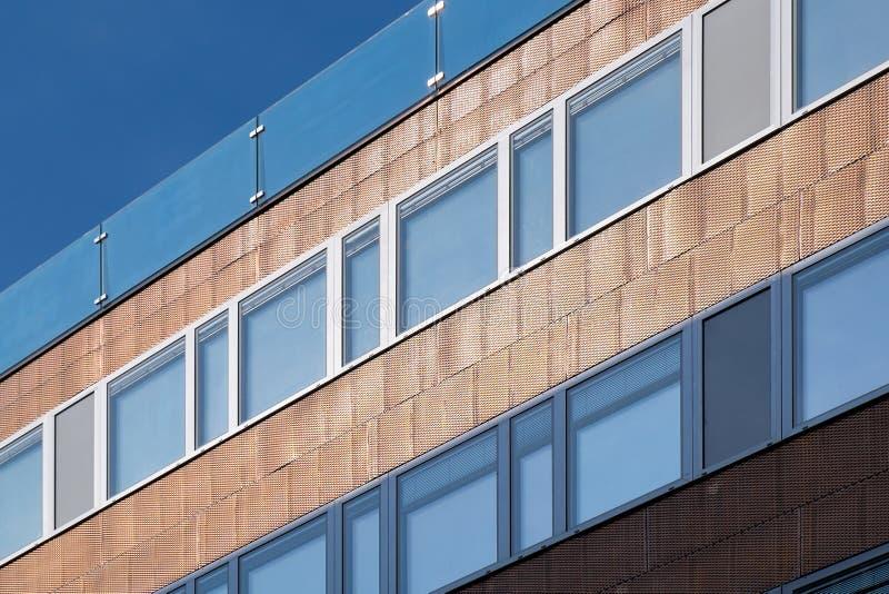 Struttura del rame edificio di Vienna fotografie stock