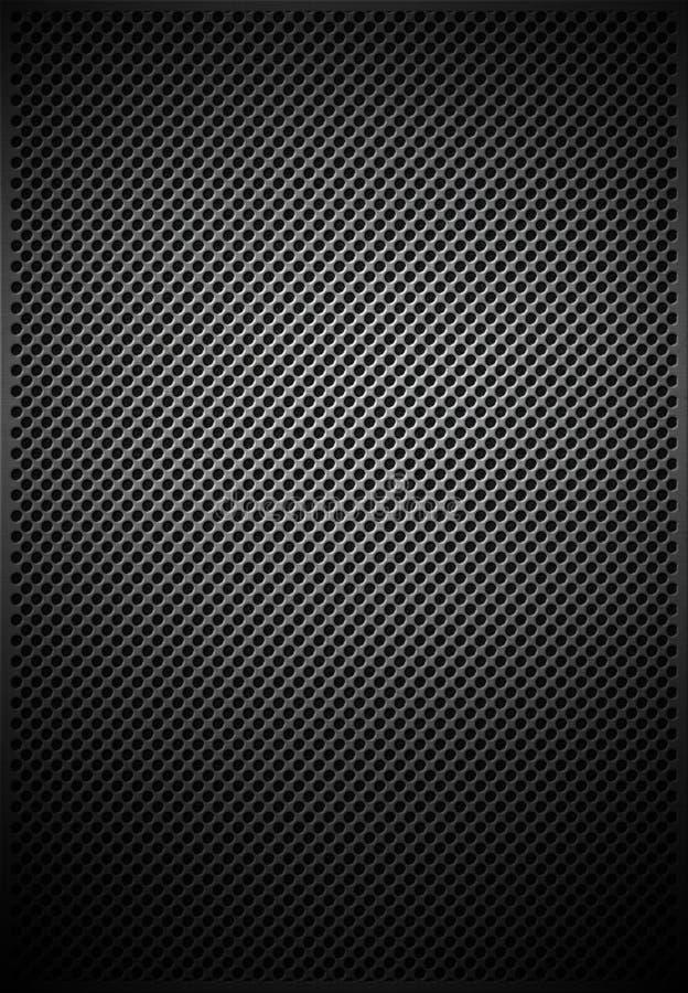 Struttura del reticolo della maglia del metallo illustrazione di stock