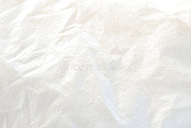 Struttura del sacco tessuta plastica bianca fotografia stock libera da diritti