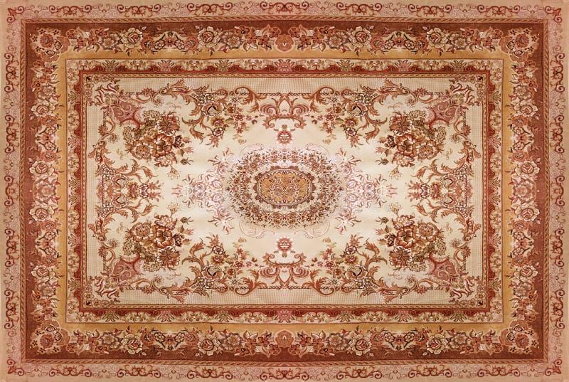 Struttura del tappeto persiano, ornamento astratto Modello rotondo della mandala, struttura tradizionale del Medio-Oriente del te immagini stock