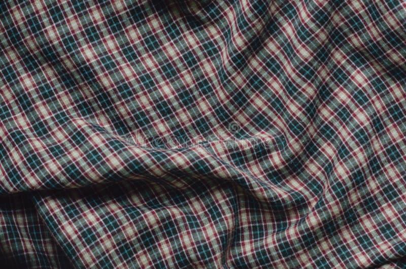Struttura del tessuto blu scuro del percalle fotografia stock