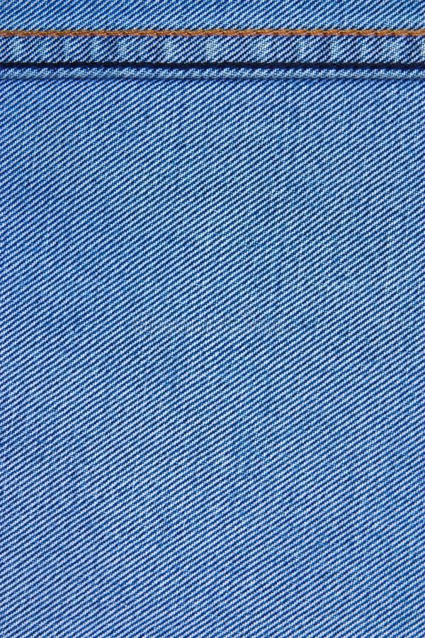 Struttura del tessuto delle blue jeans fotografie stock libere da diritti