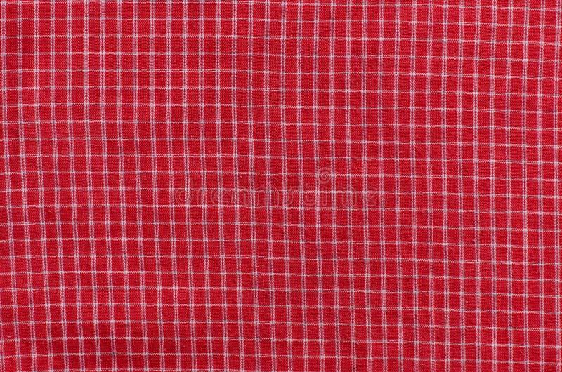 Struttura del tessuto rosso del percalle fotografia stock