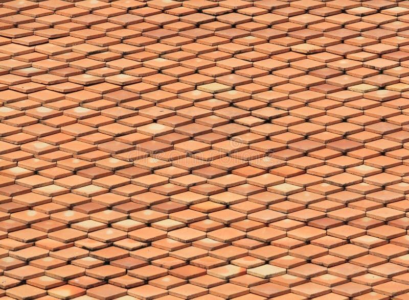 Struttura del tetto dell'argilla fotografia stock libera da diritti