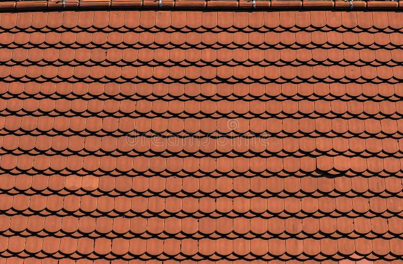 Struttura del tetto di mattonelle del mattone fotografia stock libera da diritti