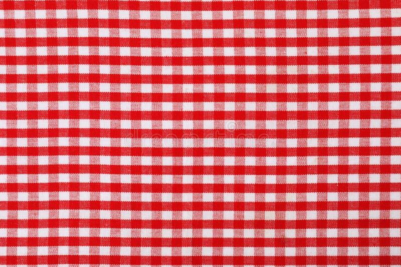 Struttura del tovagliolo di tavola del tessuto, primo piano immagini stock libere da diritti