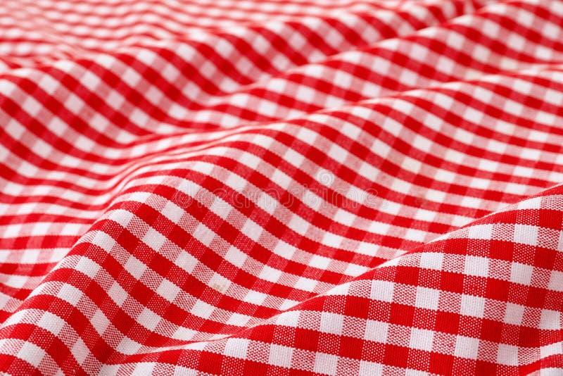 Struttura del tovagliolo di tavola del tessuto, primo piano fotografia stock