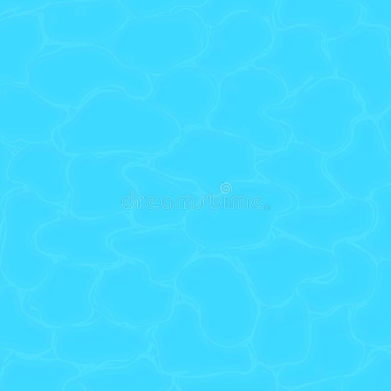 Struttura dell'acqua dello stagno Pulisca la struttura dell'acqua di mare Priorità bassa quadrata illustrazione vettoriale