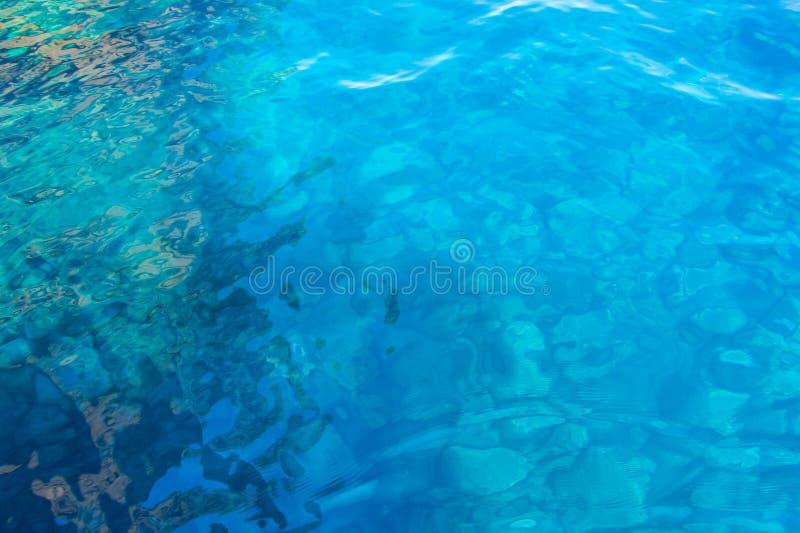Struttura dell'acqua di mare del turchese fotografie stock