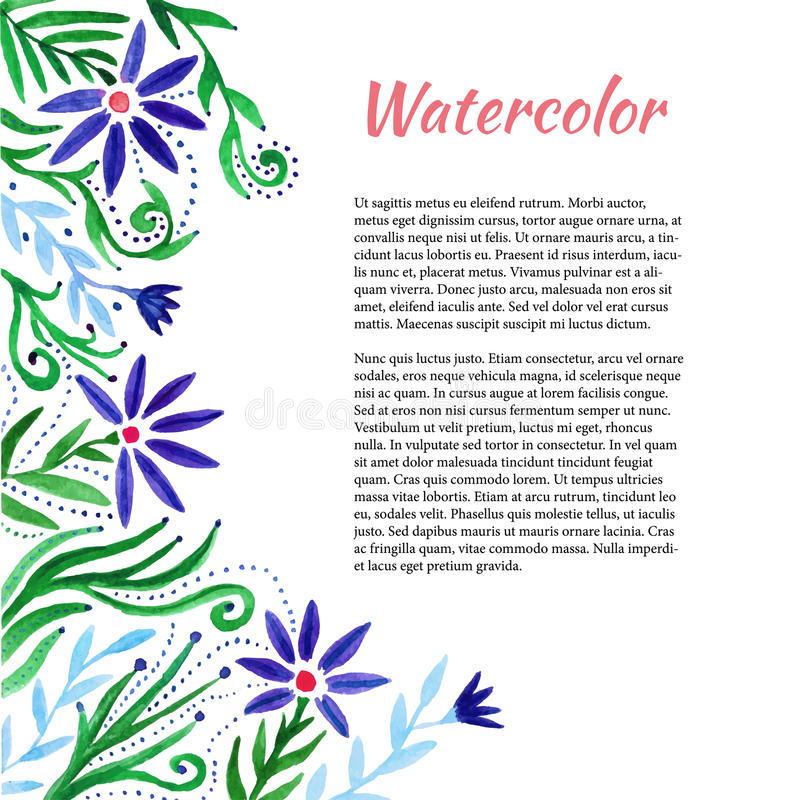 Download Struttura Dell'acquerello Con I Fiori Svegli Priorità Bassa Floreale Modello Di Vettore Illustrazione Vettoriale - Illustrazione di dissipato, decorativo: 56882993