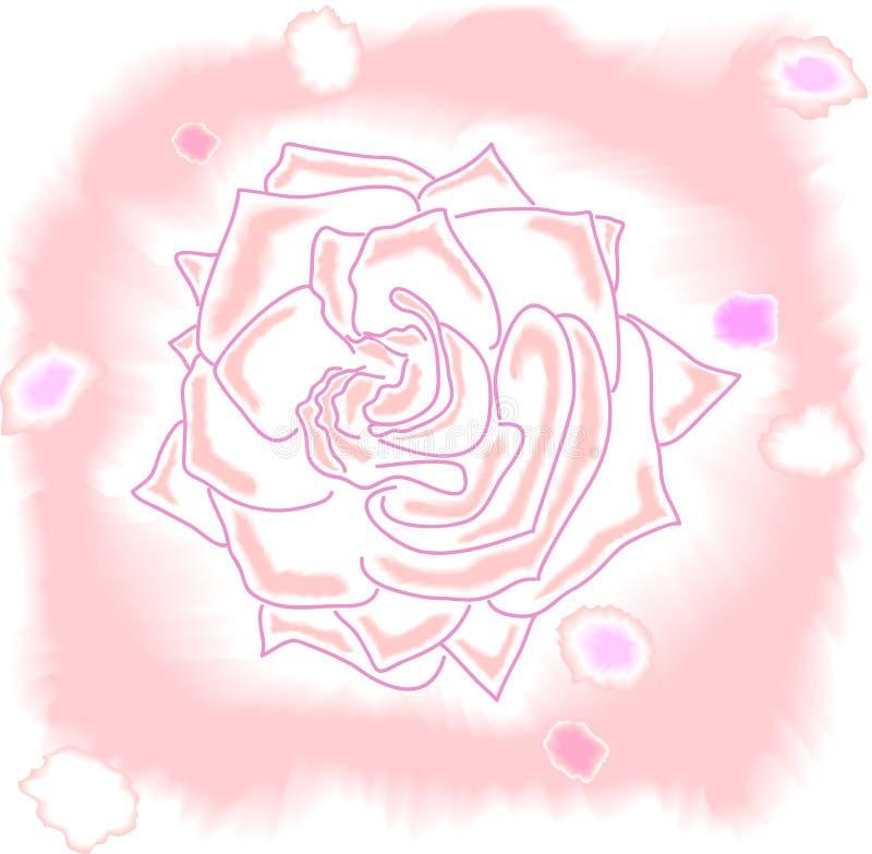 Struttura dell'acquerello della rosa di rosa immagini stock libere da diritti