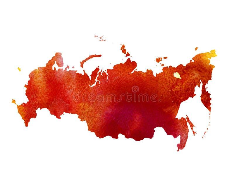Struttura dell'acquerello della Russia Programma dell'Europa illustrazione vettoriale