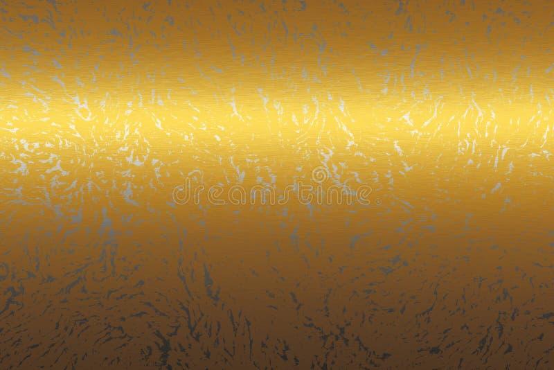 Struttura dell'estratto del metallo dell'oro, priorità bassa da progettare illustrazione vettoriale