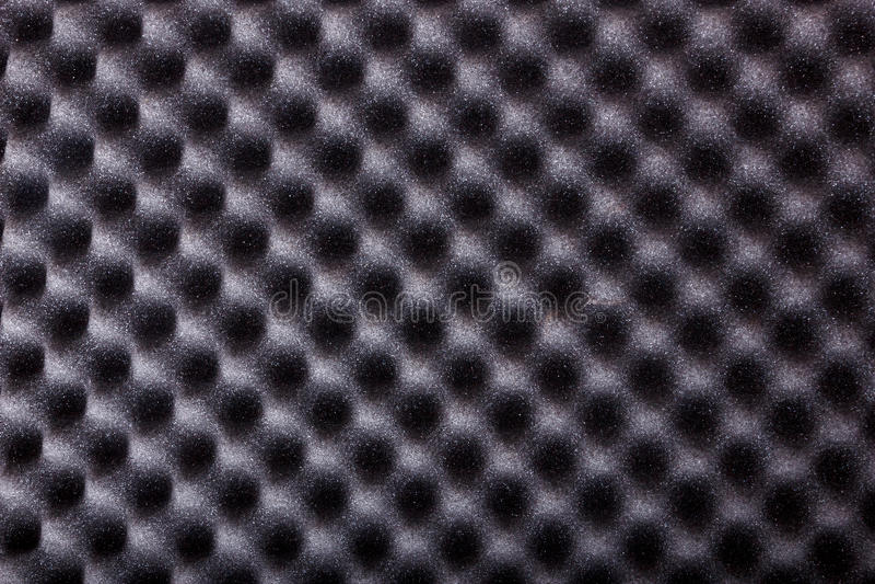 Struttura dell'isolamento del microfiber per rumore nello studio di musica o nel CA fotografie stock libere da diritti