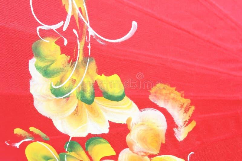 Struttura dell'ombrello rosso, fatta dalla carta del gelso fotografie stock libere da diritti