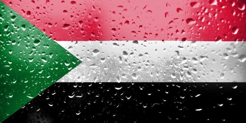 Struttura della bandiera del Sudan immagini stock
