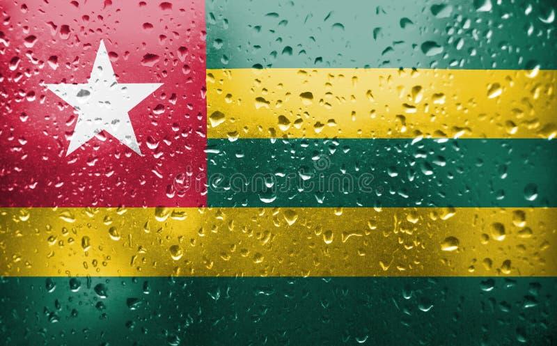 Struttura della bandiera del Togo immagini stock libere da diritti