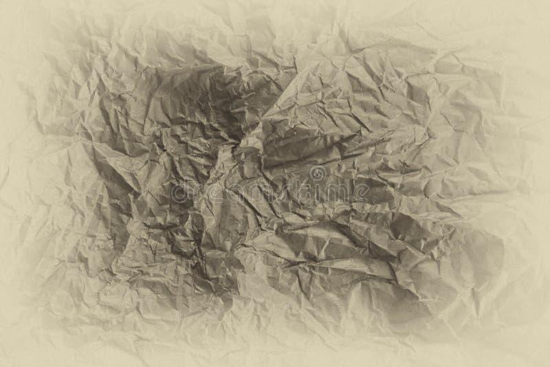 Struttura della carta beige della grinza con effetto di scenetta come backgroun fotografie stock