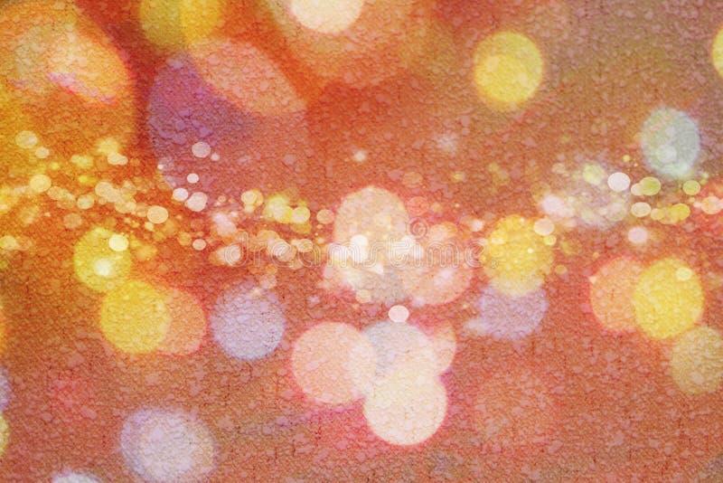 Struttura della carta, giallo astratto, rosa, porpora, arancia, cerchi, progettazione del fondo illustrazione di stock
