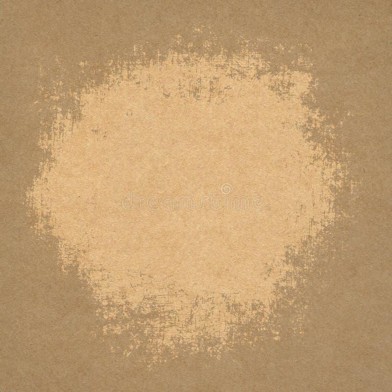 Struttura della carta o della carta di Brown Priorità bassa dell'annata immagine stock libera da diritti