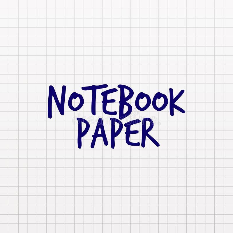 Struttura della carta quadrata Pagina del taccuino in gabbia Fondo di vettore in cellula Modello del contesto della scuola illustrazione di stock