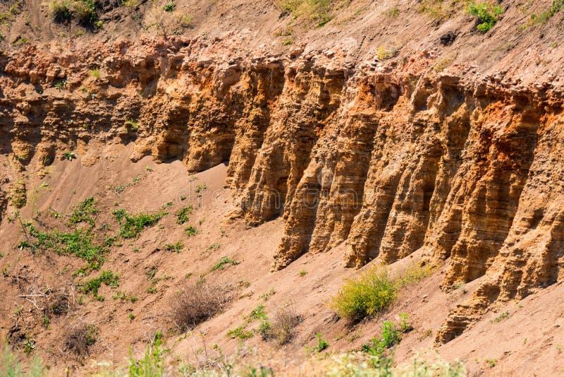Struttura della collina del calcare in natura immagine stock