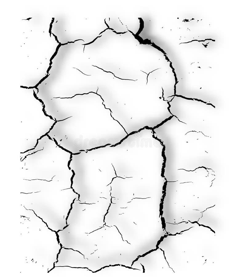 Struttura della crepa di vettore. illustrazione vettoriale