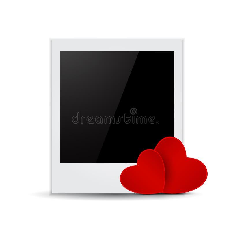Struttura della foto del biglietto di S. Valentino illustrazione vettoriale