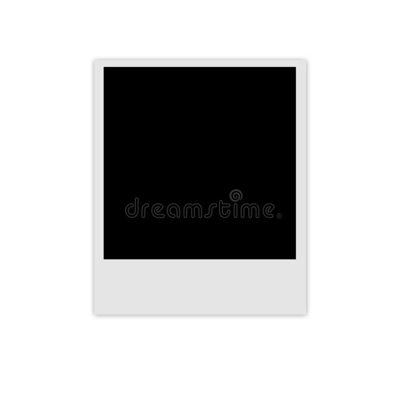 Struttura della foto della polaroid fotografia stock libera da diritti