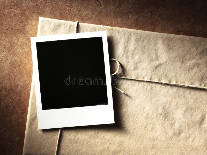 Struttura della foto di stile della polaroid fotografia stock libera da diritti