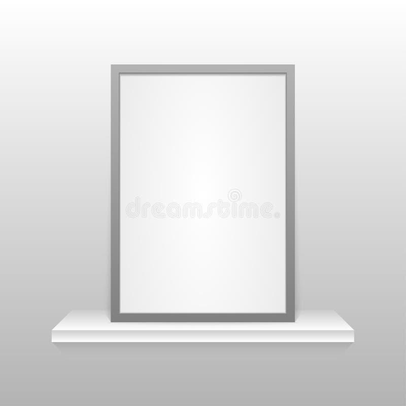 Struttura della foto sullo scaffale ENV 10 illustrazione vettoriale