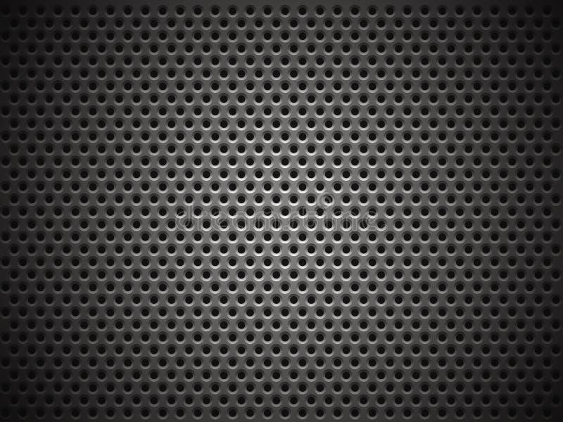 Struttura della griglia del metallo illustrazione vettoriale