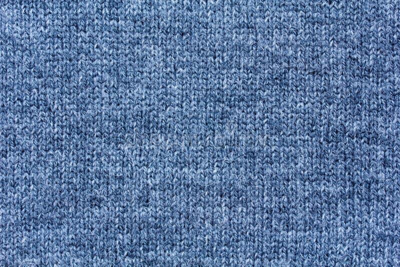 Struttura della lana nel tono blu grigio immagini stock
