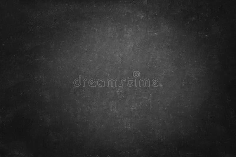 Struttura della lavagna e fondo nero, parete orizzontale della lavagna dello spazio della copia scura fotografie stock libere da diritti